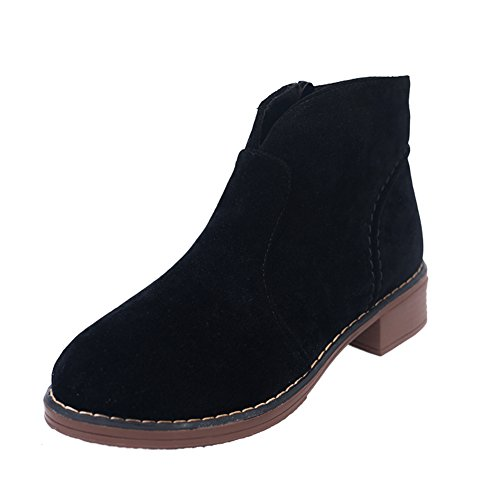 Tête en cuir Nubuck Martin en automne et en hivernales des bottes/ à fond épais avec bottes courtes C