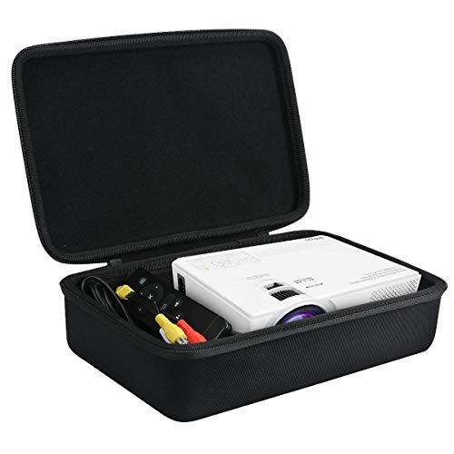 für Beamer, ELEPHAS LED Mini Beamer unterstützt 1080P HD 1500 Lumen Eva Hart Fall Reise Tragen Tasche von Khanka