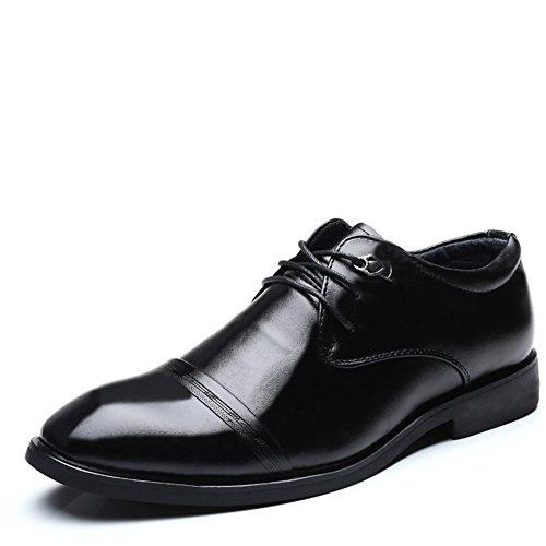 Moda Hombres Cuero de Boda con Cordones de Zapatos