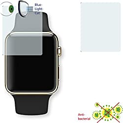 2 x DISAGU ClearScreen screen protection film for Apple Watch Edition 38mm antibacterial, BlueLight filter protective film (intentionally smaller than the display due to its curved surface)