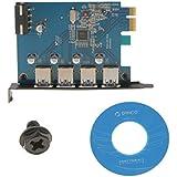 Gazechimp 4 Puertos PCI-E a USB3.0 Alta Velocidad Adaptador de Tarjeta PCI Express Card VLI800 PC