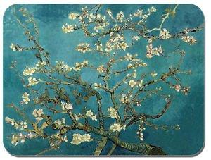 Preisvergleich Produktbild Vincent Van Gogh-Blühende Mandelbaumzweige 'Baum Maus Mat. Mauspad, hochwertiger Kunstdruck