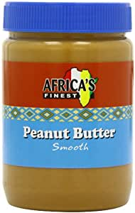 Africa's Finest Peanut Butter Smooth 500 g (Pack of 12)