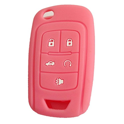 ezzy-auto-new-pink-5-buttons-silicone-cover-holder-key-jacket-fit-for-chevrolet-camaro-cruze-volt-eq