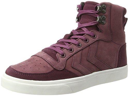 hummel Stadil Winter, Sneakers Hautes Mixte Adulte Rouge (Eggplant)