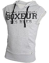 Boxeur Des Rues Sweat-shirt à manches courtes avec capuchon et logo imprimé