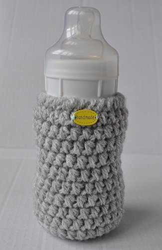 Handmade Crochet Baby Bottle Sleeve Warmer Pouch
