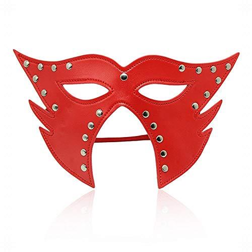 CLS813 Sex Toys Kit SM Kit Gesundheitsprodukte für Erwachsene Spaß Nachtclub-Schutzbrillen Halloween-Requisiten Flirtspiel Leidenschaftsmaske, rot