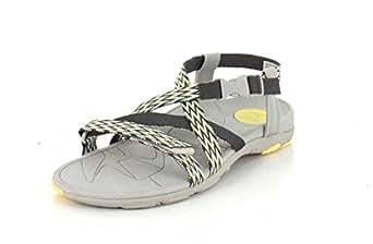 3ca665b4d69f Vionic Orthotic Sage Dorrin Triple Strap Sandal w  FMT Technology -  Grey Yellow -