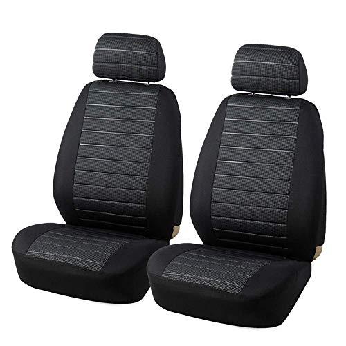 ZKORN Universal Front Car Seat Cover Airbag-kompatible Protektoren Saugfähig, rutschfest, abwaschbar, für Autos - für Sportler, Haustiere und Kinder Schwarz