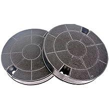 Filtres charbon rond type amc912 481249038013 (lot de 2) hotte whirlpool  akr689nb 4be3044661ac