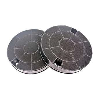 Filtres charbon rond type amc912 481249038013 (lot de 2) hotte whirlpool akr956ix