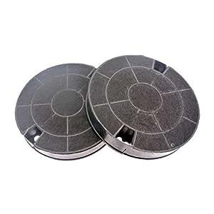 Filtres charbon rond type amc912 481249038013 (lot de 2) hotte whirlpool akr885gy