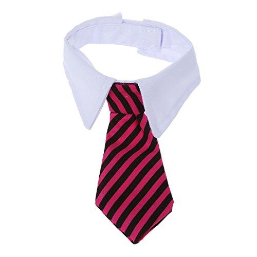 SODIAL(R) Corbata de lazo ajustable para el collar del gato del perro corbata de Vestido de boda de animales