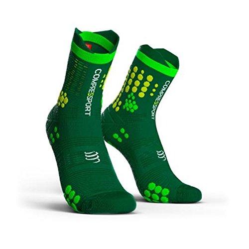Compress port proracing Socks V3.0(PRS V3) Trail Calcetines Calcetines de deporte Jogging, verde