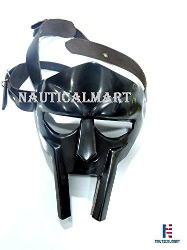 n Armour Kostüm Stahl Gladiator Maske hand-made-helmet-roman-forged-armor-rapper- schwarz antik (Rapper Kostüme)