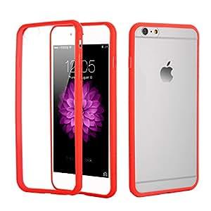 iPhone 6/6s Plus Case,I3C Ultra Slim Transparent Bumper Cover Case for iPhone 6/6s Plus Red iPhone 6/6s Plus case