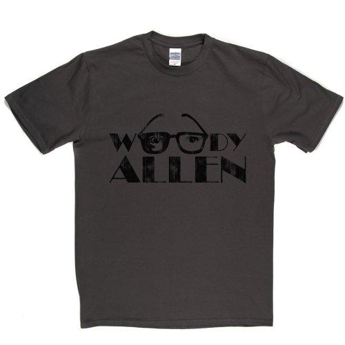 Woody Allen Specs American Actor Glasses Film TV T-shirt Grau