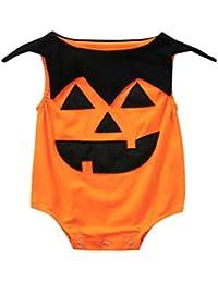 K-youth Bodies Tirantes Bebe Bebé Monos Sin Manga Calabaza de Halloween Ropa  Bebe Recien Nacido Niño Niña Otoño Invierno Mameluco… dbff41b745d