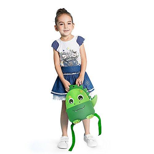 F40C4TMP Enfants sac à dos pré-scolaire maternelle bambin sac néoprène sac à bandoulière pour enfants garçons filles (vert dinosaure)