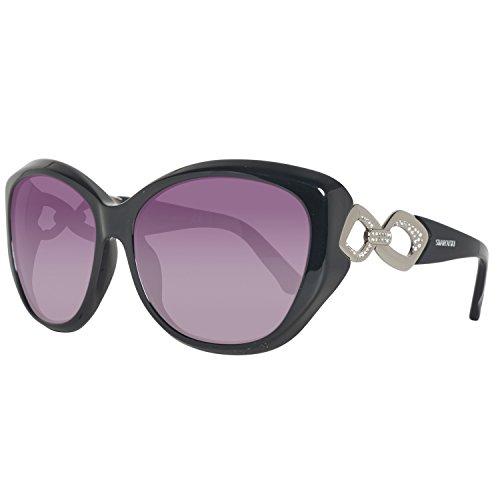 Swarovski sk0086-5901b, occhiali da sole donna, nero (shiny black), 59