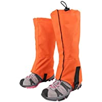 VORCOOL Impermeable Senderismo al Aire Libre Caminar Escalada Caza Nieve Legging Calibre - Tamaño S (Naranja)
