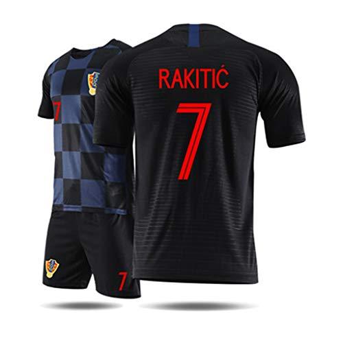 LHKJB Camiseta Camiseta de Manga Corta Camiseta de Entrenamiento de fútbol de Camiseta de la Copa del Mundo de Croacia 2018 (Color : A, Tamaño : S)