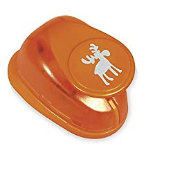 RAYHER HOBBY Rayher Moose Picture Punch, Diameter 2.54cm/1 Inch, Suitable for Paper/Card up to 200g/m², Plastic, Orange, 2,54cm- 1 Zoll