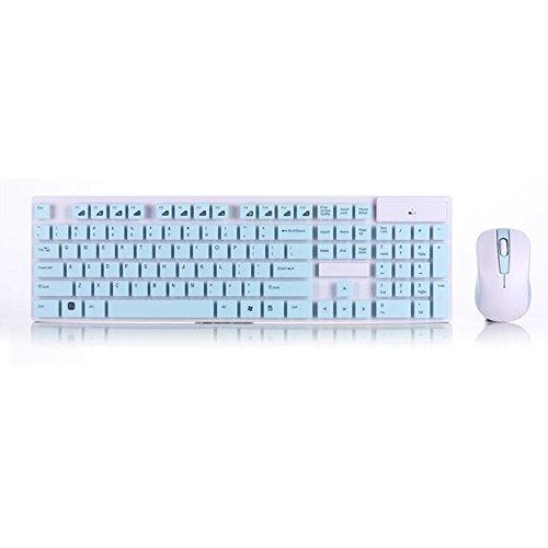 Wireless Tastatur und Maus Combo Multimedia Tragbar wasserdichten 104Tasten für Apple iPad MacBook Android Handy PC Tablet