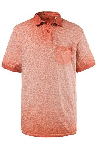 JP 1880 Herren Große Größen | Polo-Shirt | Oil Dyed | Polokragen & Knopfleiste | 1/2-Arm | bis Größe 7XL | Orange 3XL 708365 65-3XL