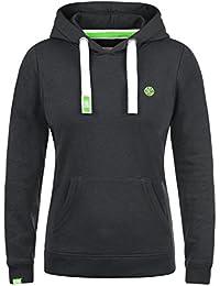 DESIRES Bennja Damen Kapuzenpullover Hoodie Sweatshirt mit Kapuze aus hochwertiger Baumwollmischung Meliert