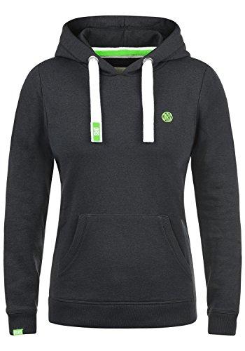 DESIRES Bennja Damen Damen Hoodie Kapuzenpullover Pullover Mit Kapuze, Größe:S, Farbe:Dark Grey Melange (8288)