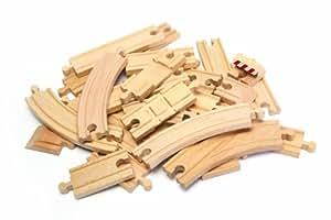 Tidlo Bumper Wooden Railtrack Set (25 Pieces)