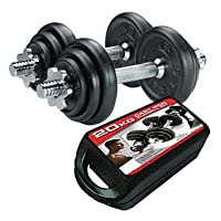 York Resistant Steel Dumbbells, 20 KG, Black Color