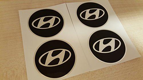 EdwardSmithCars Ersatz für Radmittelkappe Emblem Nabendeckel Aufkleber für Hyundai