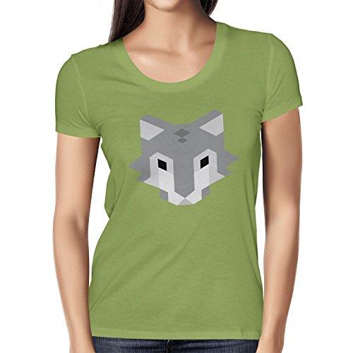 TEXLAB - Simple Wolf - Damen T-Shirt Kiwi