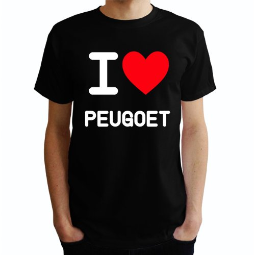 I love Peugeot Herren T-Shirt Schwarz