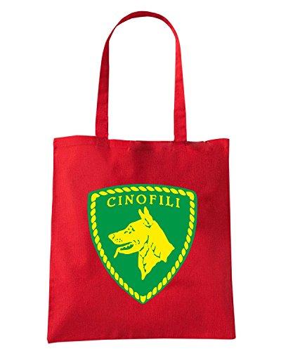 T-Shirtshock - Borsa Shopping TM0591 POLIZIA CINOFILI Rosso