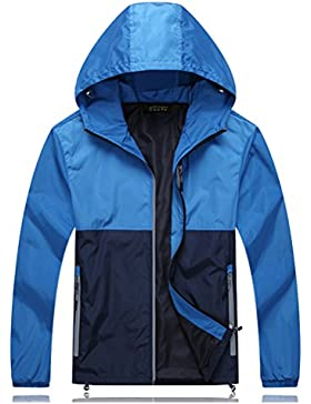 Zhuhaitf Al aire libre Mens Walking Windproof Hooded Casual Jacket Super plus size Waterproof Leisure Outerwear