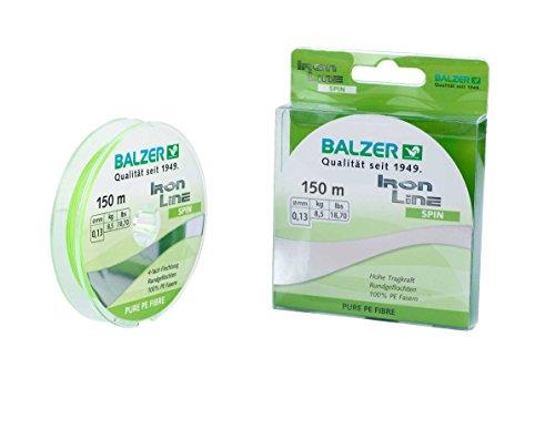 Balzer IronLine Spin geflochtene Schnur 0.19mm 150m (Chartreuse Zander)