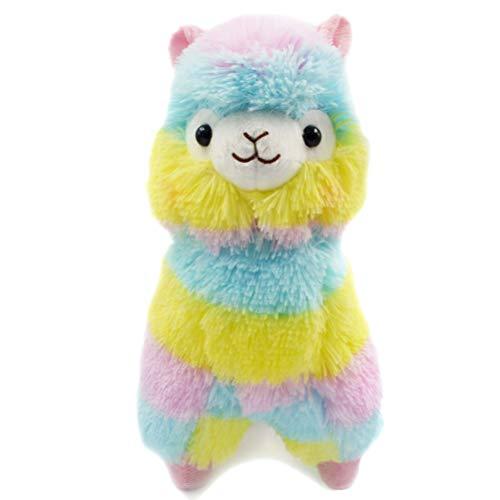 AimdonR Regenbogen Alpaka Puppe Tier Plüsch Puppe Spielzeug, Regenbogen Alpaka Plüsch weiche Kuscheltier Plüsch Puppe Spielzeug für Kinder Geburtstagsgeschenk