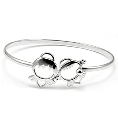 JMT Encantadora mujer joyas moda pulseras 925 plata esterlina plateado brazalete Angel de JMT