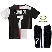 Daoseng 2019-2020 Tuta da Allenamento per Ragazzo Uniforme da Calcio T-Shirt a Maniche Corte + Pantaloncini (2019-2020 No.7, T22/Altezza Bambini 130-135CM)
