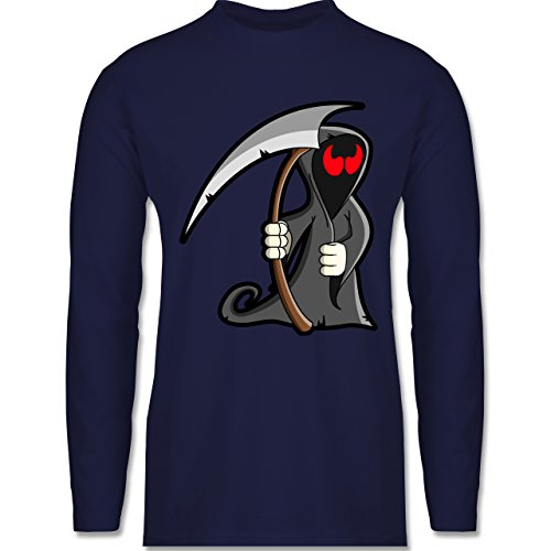Shirtracer Halloween - Sensenmann - Herren Langarmshirt Navy Blau