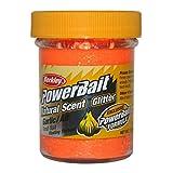BerkleyPowerbait Natural Scent Trout Bait Glitter Garlic Fluo Orang