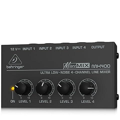 Behringer MicroMix MX400 Table de mixage 4 canaux - 4 Canali Mini Mixer