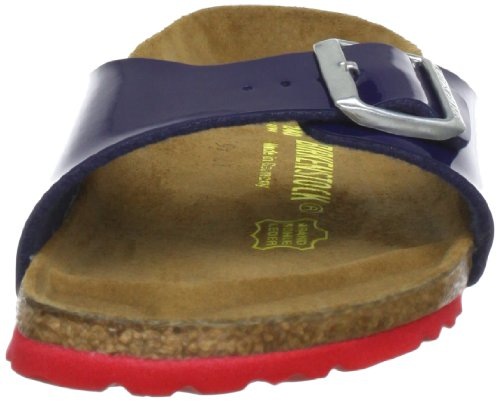 Birkenstock Madrid, Mules Bleu (Vernis Dress Blue/Ls Red)