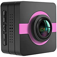 matecam x1 auto Dash Cam Sport Action Camera Wifi 4 K -HI 16 MP Sony IMX206 Full HD 1080P Gyro anti shake Sport DV accessori Kits per bicicletta, moto immersioni nuoto ecc., Rot, 42x42x26mm