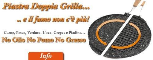 Testo Romagnolo flache Bratpfanne, doppelseitig nutzbar, mit Granit-/Lavastein-Beschichtung - 32 cm