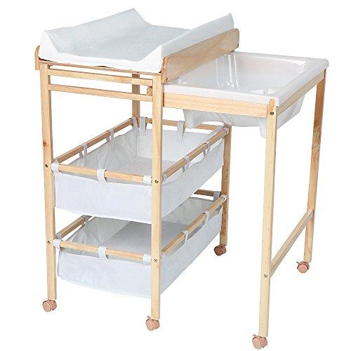 Infantastic 2 in 1 fasciatoio fasciatoio baby mobili e - Supporto per vasca da bagno ...